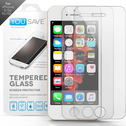 YouSave Accessories iPhone SE / 5s / 5C Glass Screen Protector - Twin Pack