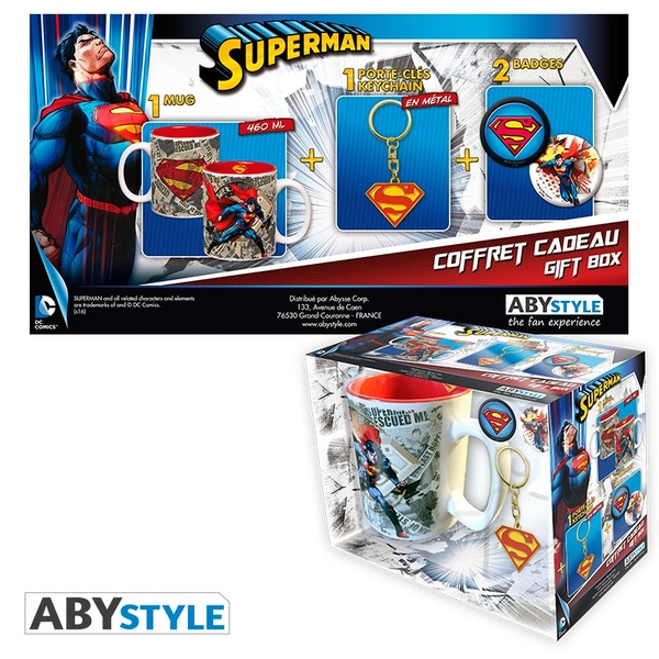 DC Comics - Mug + Keychains + Badges Superman Gift Box