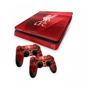 Official Liverpool FC PS4 Slim Console Skin and 2x Controller Skin Combo Pack