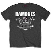 Ramones 1974 Eagle Mens Charcoal T Shirt: XXL