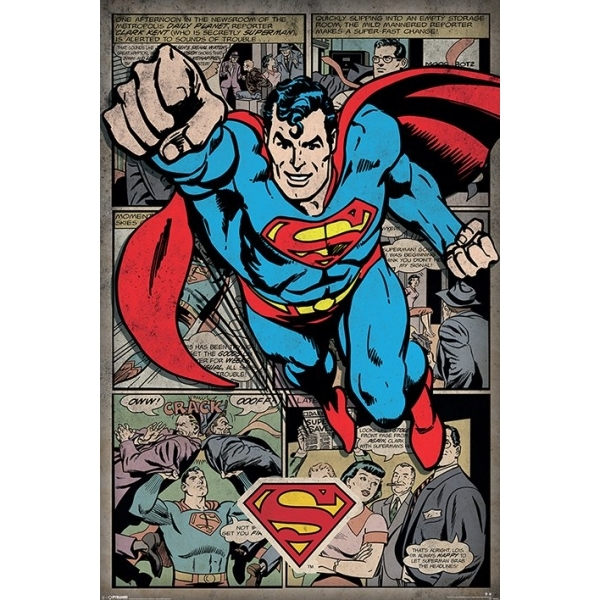 Superman - Comic Montage Maxi Poster