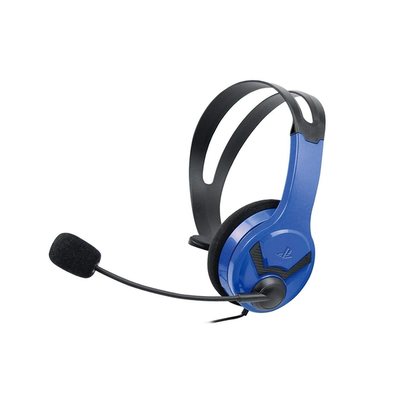 Image of Official Licensed PS4 Wired Chat Headset Blue for PS4