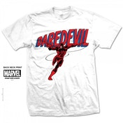 Marvel Comics Daredevil Logo Mens White T Shirt Small