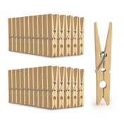 Large Bamboo Pegs - Pack of 100 | Pukkr