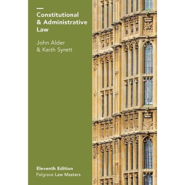 Constitutional and Administrative Law by John Alder, Keith Syrett (Paperback, 2017)