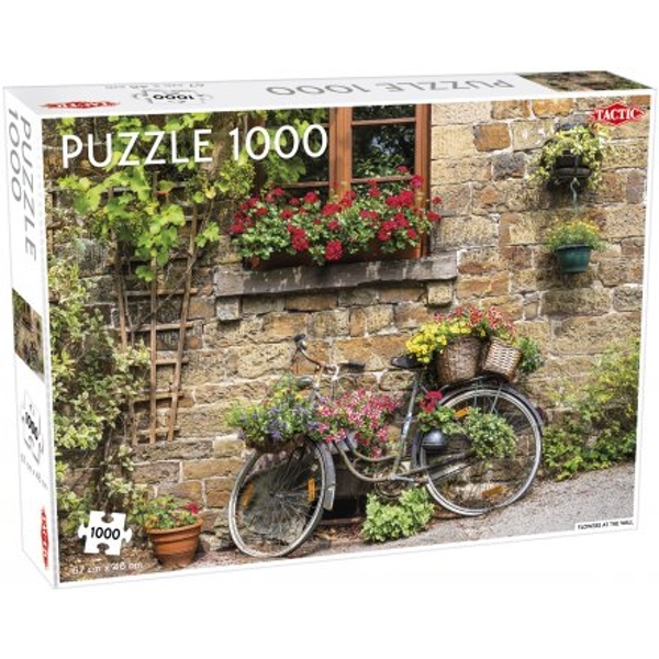 Flowers at the Wall 1000 Piece Jigsaw Puzzle