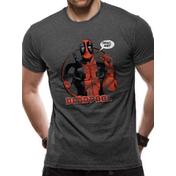 Deadpool - Who Me Men's Large T-Shirt - Grey