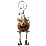 Metal Pumpkin With Spider by Heaven Sends
