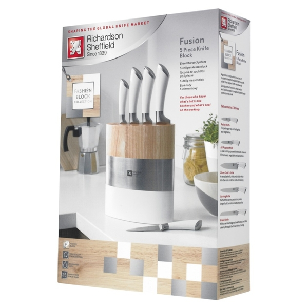 Richardson Sheffield Fusion Knife Block Set 5 Piece