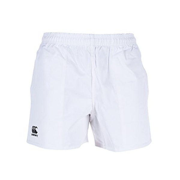 Canterbury Men's Professional Cotton Rugby Shorts, White, Small