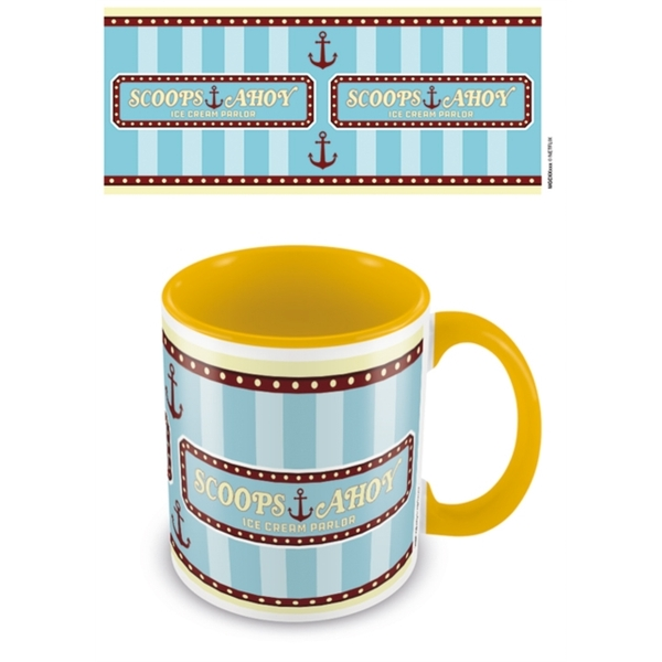 Stranger Things - Scoops Ahoy (Yellow Coloured Inner) Mug