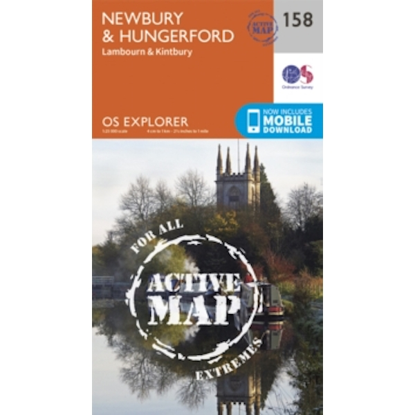 Newbury and Hungerford by Ordnance Survey (Sheet map, folded, 2015)