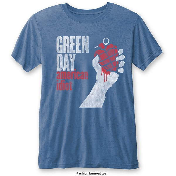 Green Day - American Idiot Vintage Unisex Large T-Shirt - Blue
