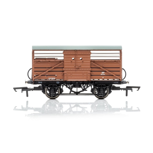 Hornby Dia.1529 Cattle Wagon British Railways 553908 Era 4 Model Train