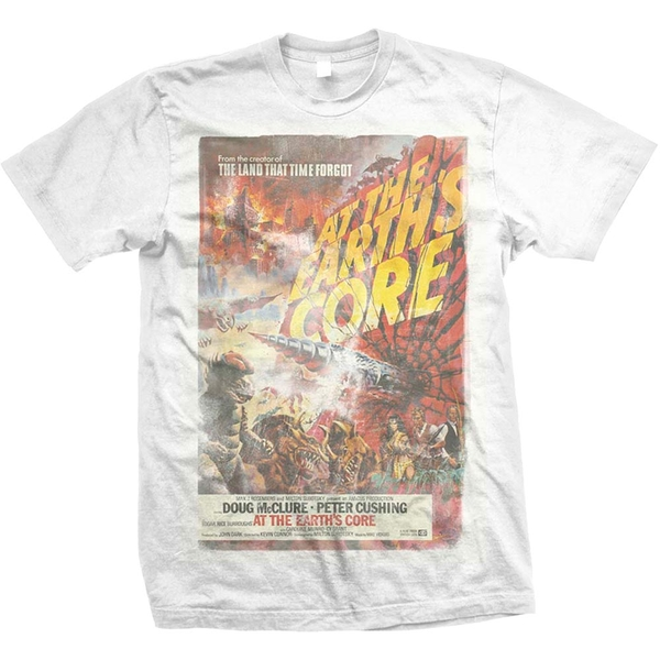 StudioCanal - At the Earths Core Unisex Large T-Shirt - White
