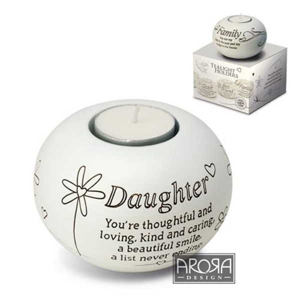 Said with Sentiment Tea Light Holders Daughter