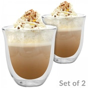 Ex-Display 2 Double Walled 190ml Cappuccino Glasses | M&W Used - Like New