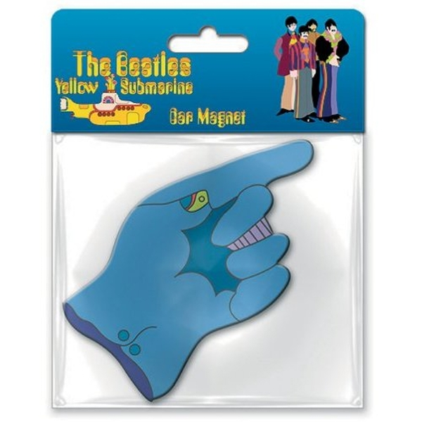 The Beatles - Yellow Submarine Flying Glove Rubber Magnet