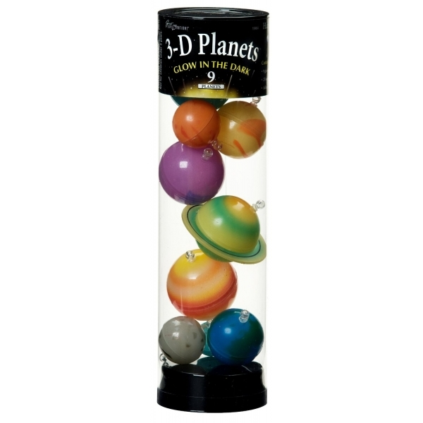 3-D Planets in a Tube Glow-in-the-Dark - Damaged Packaging