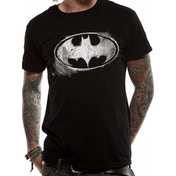 Batman Logo Mono Distressed T-Shirt black - Small