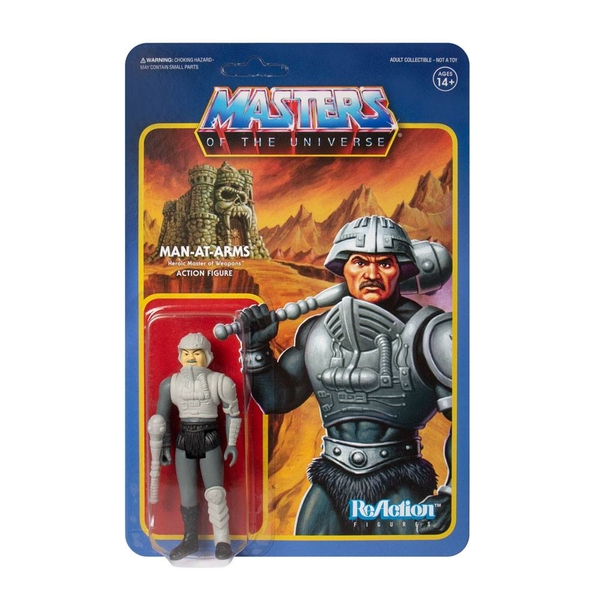 Masters of the Universe ReAction Action Figure Man-At-Arms (Movie Accurate) 10 cm
