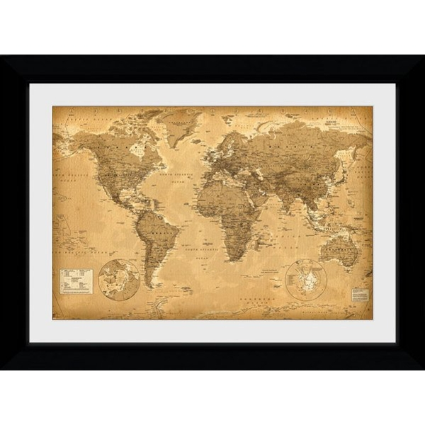 World Map Antique Style Collector Print