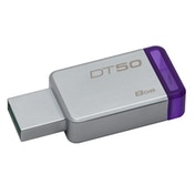 Kingston DataTraveler 50 8GB USB 3.0/3.1 Silver and Purple USB Flash Drive