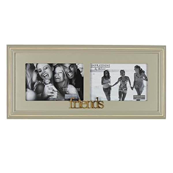 """6"""" x 4"""" - Wooden Double Photo Frame - Friends"""