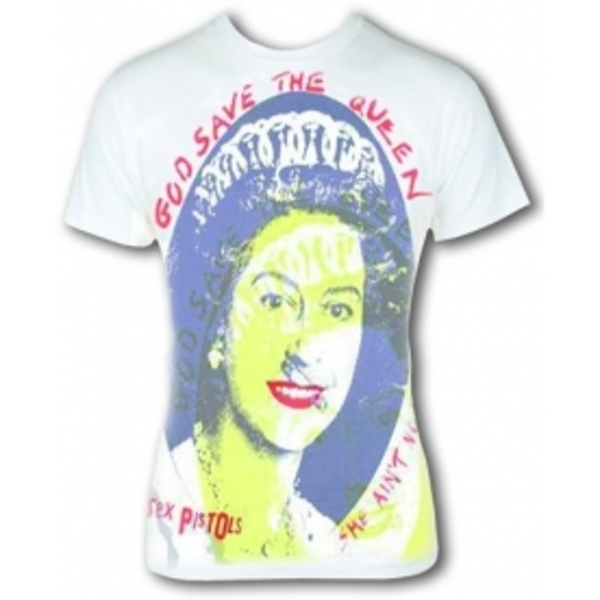 Sex Pistols 'Save Her' Men's Small T-Shirt - White