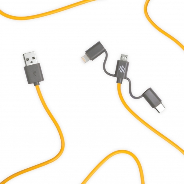 Swipe Link - 3in1 Cable 20cm Yellow