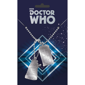 Doctor Who Tardis and Dalek Dog Tag
