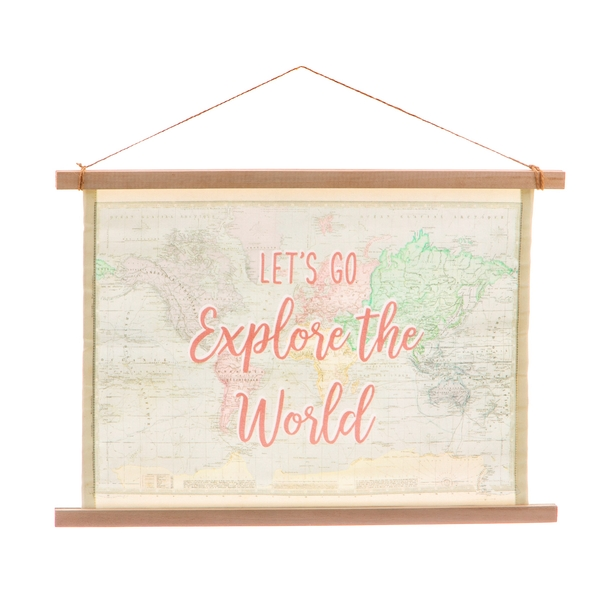 Sass & Belle World Explorer Wall Hanging Canvas Print