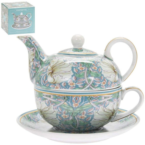 William Morris Pimpernel Tea For One By Lesser & Pavey