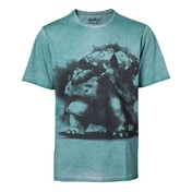 Pokemon - Venusaur Oil Washed Men's Large T-Shirt - Turquoise