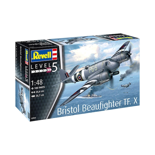 Bristol Beaufighter TF.X 1:48 Level 5 Revell Model Kit - Image 1
