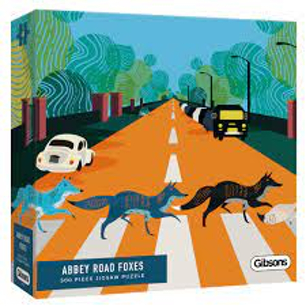 Abbey Road Foxes White Logo Collection Jigsaw Puzzle - 500 Pieces