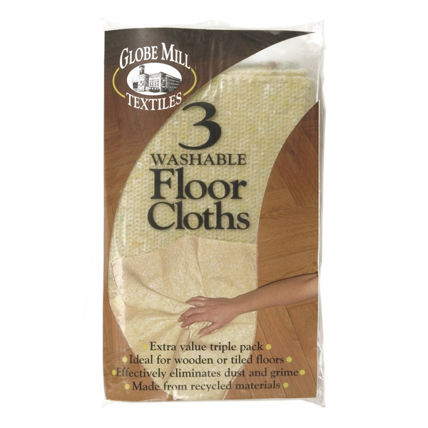 Globe Mill Textiles Washable Floor Cloths 3 Pack