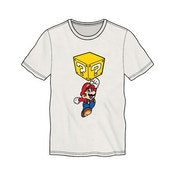 Nintendo - Super Mario Bros. Mario Breaking Block T-Shirt Male Small (White)