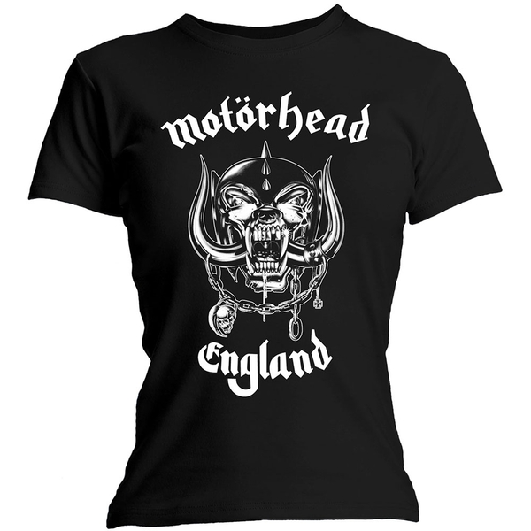 Motorhead - England Ladies Medium T-Shirt - Black