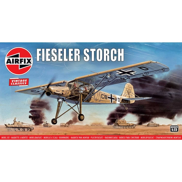Fiesler Storch Vinatge Classic Aircraft Air Fix Model Kit