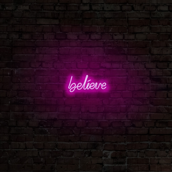 Believe - Pink Pink Wall Lamp
