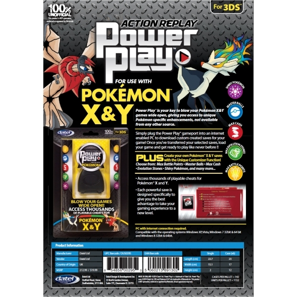 Datel Action Replay Power Play for use with Pokemon X & Y - Image 2