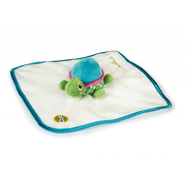Little Helper Oops Sumptuously Soft and Multi Textured Baby Doudou Comforter with Soft Toy Turtle