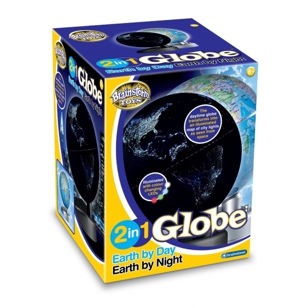 Ex-Display 2 in 1 Globe Earth by Day and Night Used - Like New