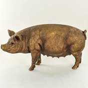 Pig Standing Bronze Sculpture