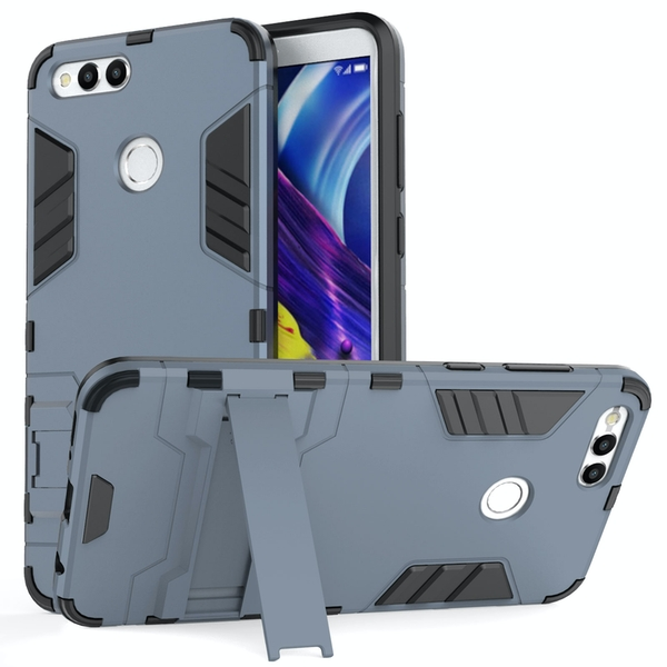 Huawei Honor 7X Armour Combo Stand Case - Steel Blue