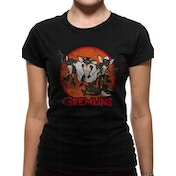 Gremlins - Retro Group Black Women's X-Large T-Shirt - Black