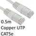 RJ45 (M) to RJ45 (M) CAT5e 0.5m White OEM Moulded Boot Copper UTP Network Cable - Image 2