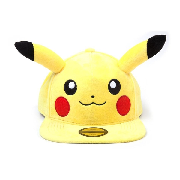 Pokemon - Pikachu Plush with Ears Snapback Baseball Cap (Yellow/Black)
