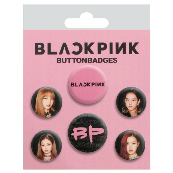 Black Pink Badges mix (Pack Of 6)